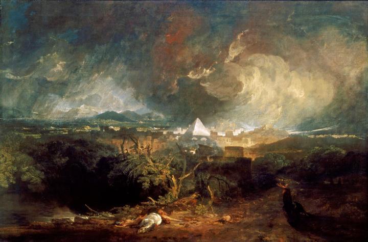 картина Пятое мучение Египта, чума :: Уильям Тёрнер - William Turner фото