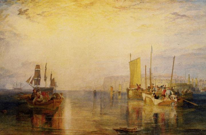 пейзаж Восход солнца. Ловля рыбы в Маргэте :: Уильям Тёрнер - William Turner фото