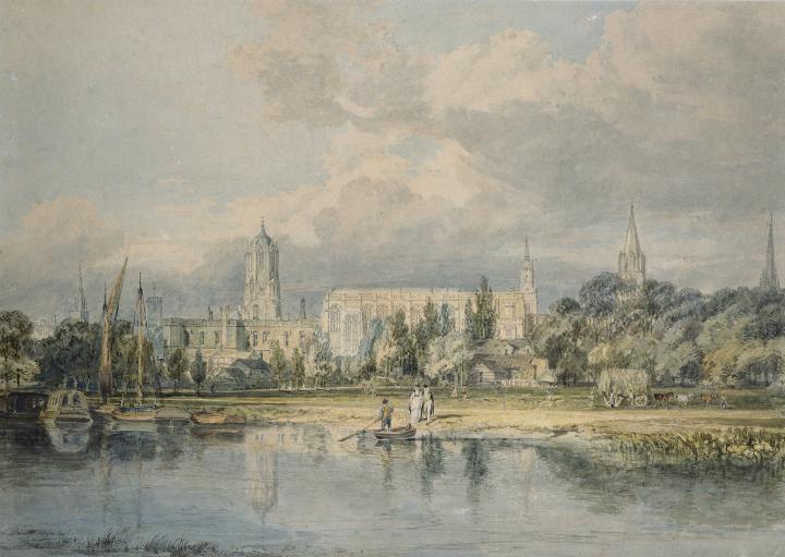 картина Вид южной стороны церкви Христа со стороны луга :: Уильям Тёрнер - William Turner фото