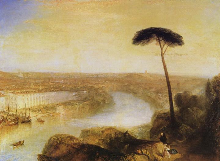 пейзаж Рим - вид с горы Авентине :: Уильям Тёрнер - William Turner фото