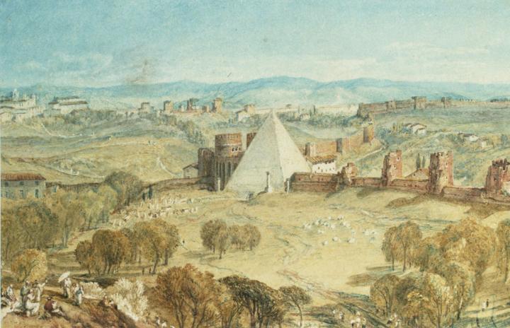 картина Рим - вид с горы Тестаччо :: Уильям Тёрнер - William Turner фото