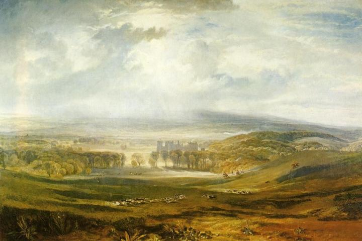 картина Замок Раби, резиденция графа Дарлингтона :: Уильям Тёрнер, описание - William Turner фото