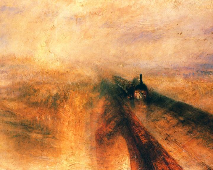 картина < Дождь, пар и скорость - Большая Западная Железная дорога >:: Уильям Тёрнер ( William Turner ) - William Turner фото