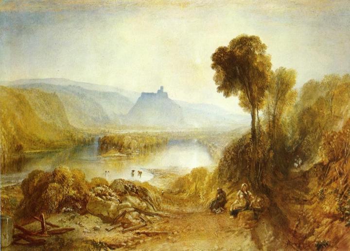 картина < Замок Прудхое в Нортамберленде >:: Уильям Тёрнер ( William Turner ) - William Turner фото