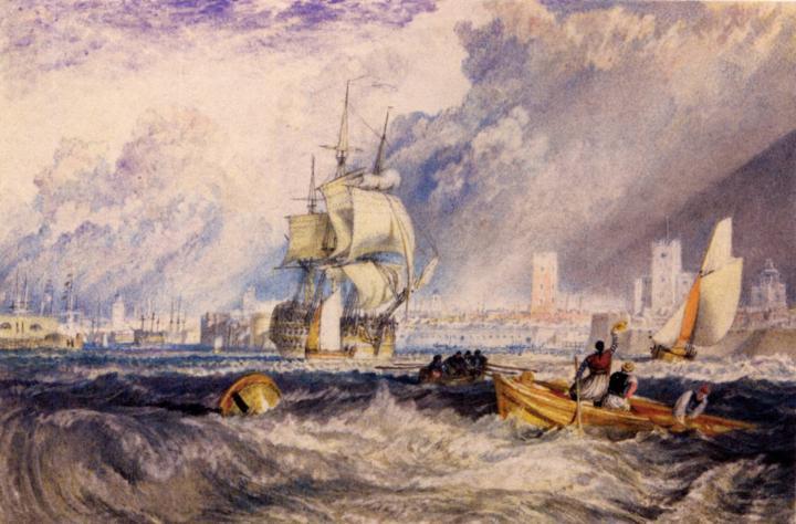 картина порт Портсмут :: Уильям Тёрнер - William Turner фото