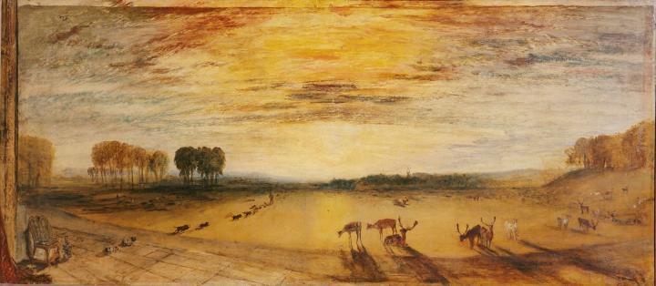 картина < Петворт парк - на расстоянии Тиллингтонская церковь >:: Уильям Тёрнер ( William Turner ) - William Turner фото
