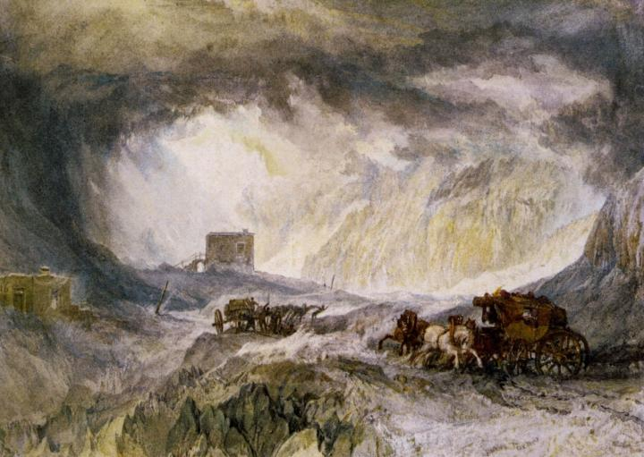 картина Дорога в горах :: Уильям Тёрнер - William Turner фото