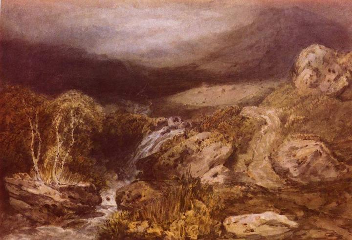 картина Горный поток, Конистон :: Уильям Тёрнер - William Turner фото