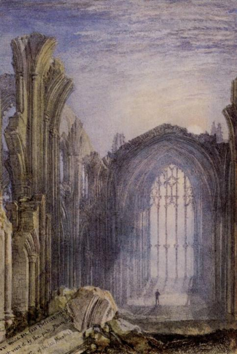 руинистика Мелроское аббатство :: Уильям Тёрнер - William Turner фото