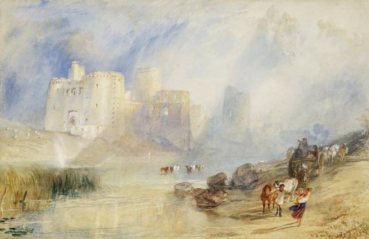 картина замок Кидвелли :: Уильям Тёрнер - William Turner фото