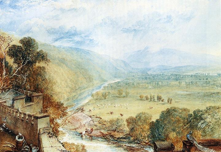 пайзаж Вид с террасы замка Хорнби :: Уильям Тёрнер - William Turner фото