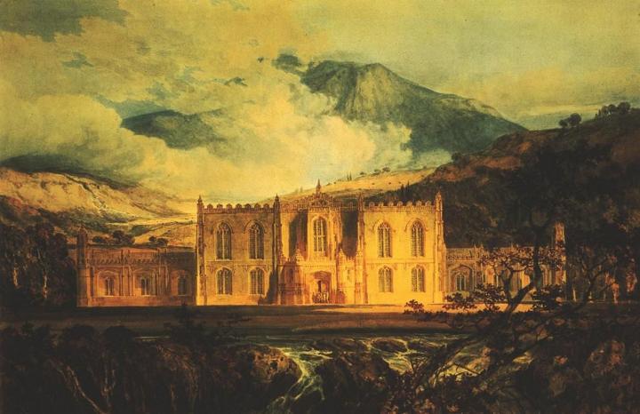 пейзаж с замком Хафод :: Уильям Тёрнер - William Turner фото