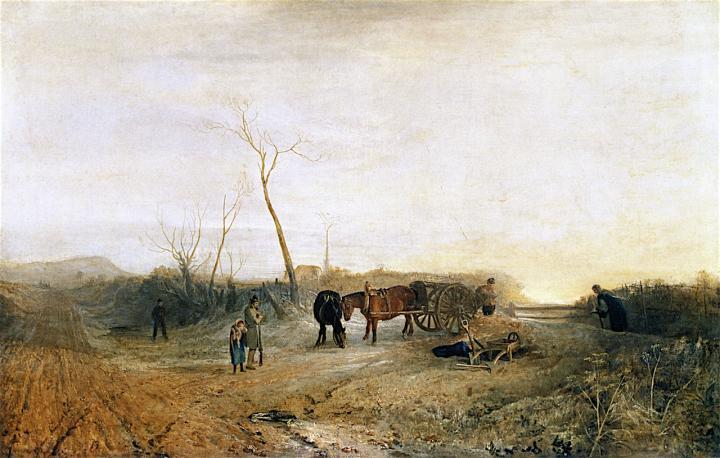 картина < морозное утро >:: Уильям Тёрнер ( William Turner ) - William Turner фото