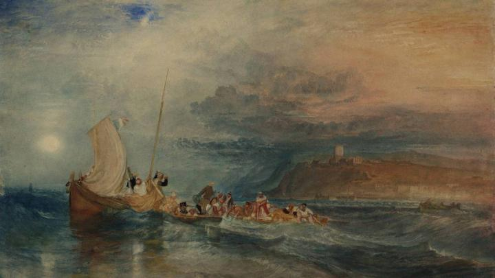 картина < гавань Фолкстон, вид с моря >:: Уильям Тёрнер ( William Turner ) - William Turner фото