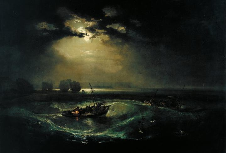 морской пейзаж Рыбаки в море :: Уильям Тёрнер - William Turner фото