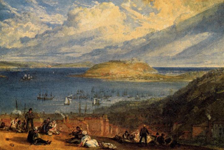 картина < гавань Фальмут >:: Уильям Тёрнер ( William Turner ) - William Turner фото