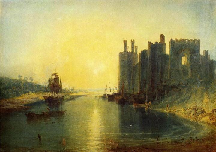прибрежный пейзаж Замок Каернарвон :: Уильям Тёрнер - William Turner фото