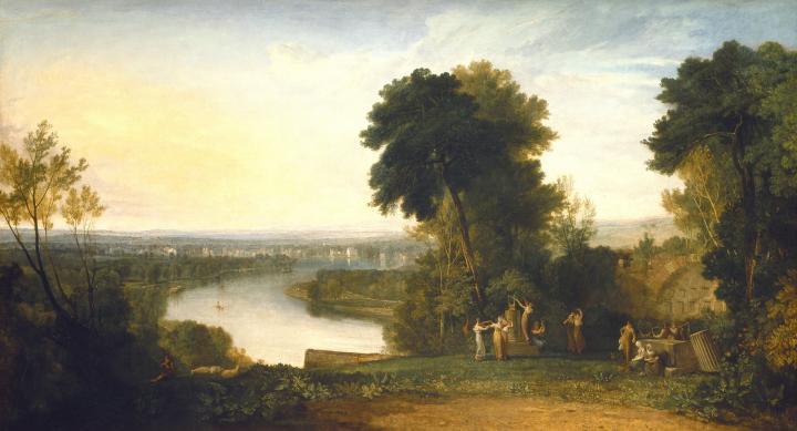 речной пейзаж Эолова арфа Томсона :: Уильям Тёрнер - William Turner фото