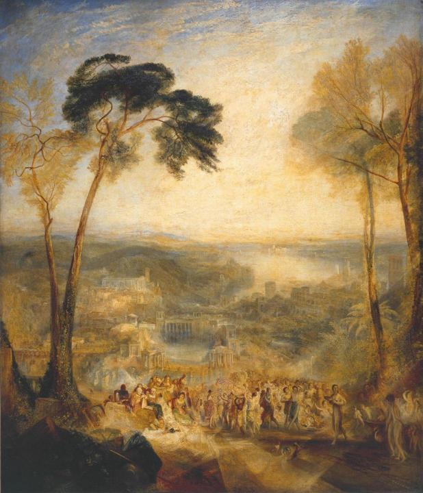 пейзаж Фрина в облике Венеры приходит в публичную баню; Эсхин издевается над Демосфеном :: Уильям Тёрнер - William Turner фото