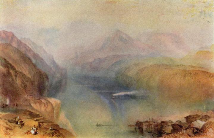 пейзаж Фирвальдштеттское озеро :: Уильям Тёрнер - William Turner фото