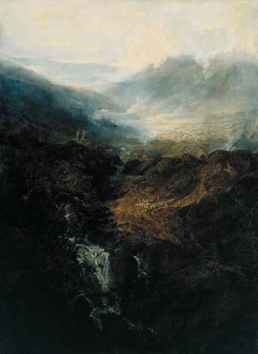 горный пейзаж Утро в Корнстонских скалах в Камберленде :: Уильям Тёрнер - William Turner фото
