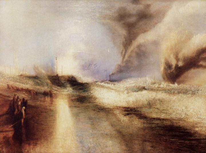 картина Сигнальные ракеты при сильном волнении :: Уильям Тёрнер - William Turner фото