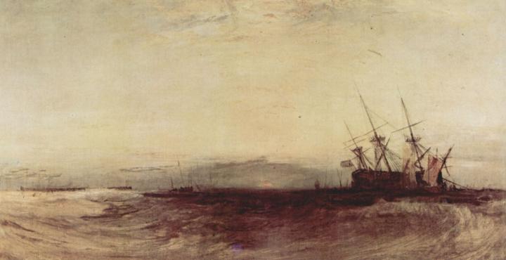 картина Севшее на мель судно :: Уильям Тёрнер - William Turner фото