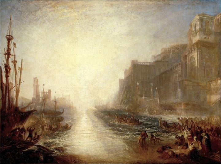 архитектурный пейзаж - Регул, отправляющийся в поход из Рима :: Уильям Тёрнер, описание картины - William Turner фото