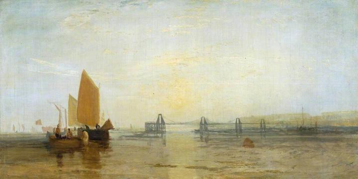 картина < Брайтонская 'цепная' гавань >:: Уильям Тёрнер ( William Turner ) - William Turner фото