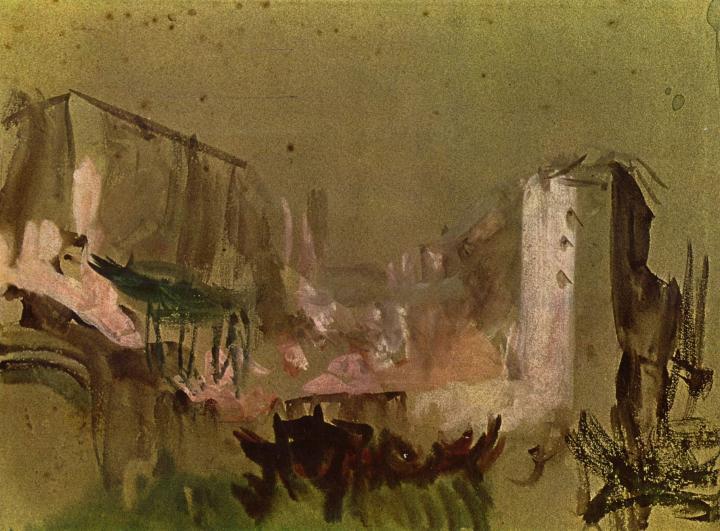 картина Венеция, дома :: Уильям Тёрнер - William Turner фото