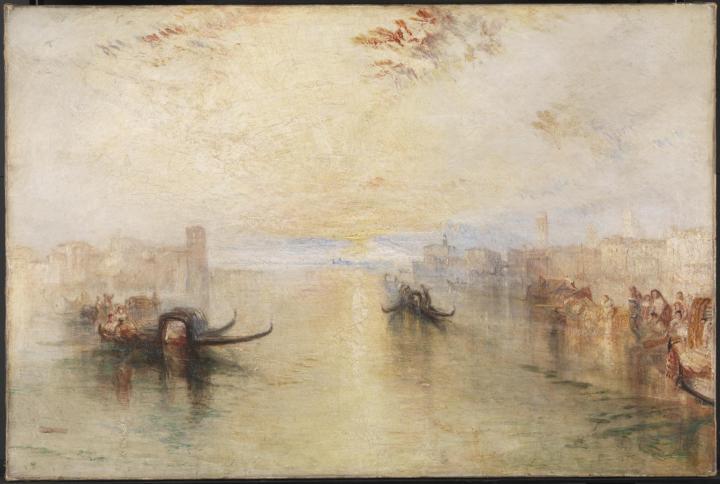 картина Венеция, Сан Бенедетто с видом на устье канала :: Уильям Тёрнер - William Turner фото