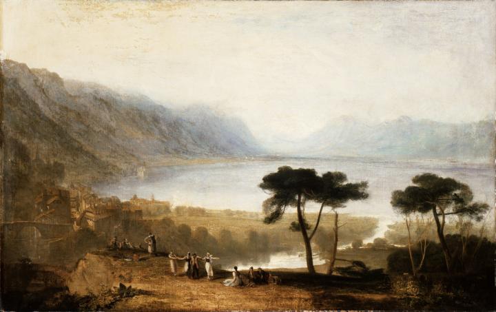картина Вид Женевского озера со стороны Монтрё :: Уильям Тёрнер - William Turner фото