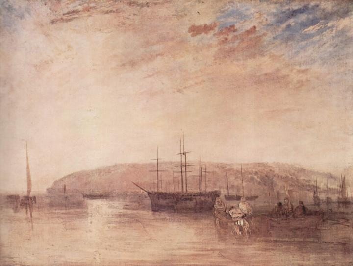 картина < Корабли у мыса Ист Кауис >:: Уильям Тёрнер ( William Turner ) - William Turner фото