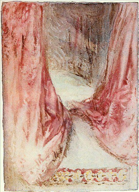 картина < Кровать, эскиз драпировки >:: Уильям Тёрнер ( William Turner ) - Тёрнер Уйльям фото