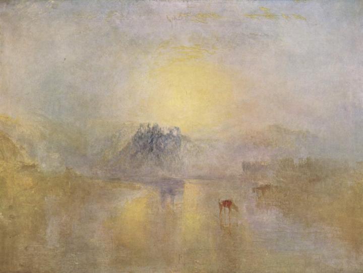 пейзаж Норем-касл при восходе солнца :: Уильям Тёрнер - William Turner фото