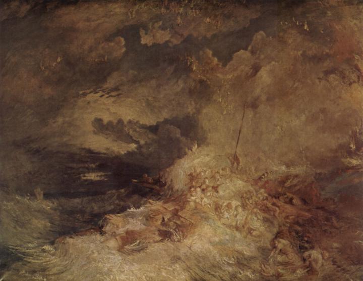 картина Огонь на море :: Уильям Тёрнер - William Turner фото
