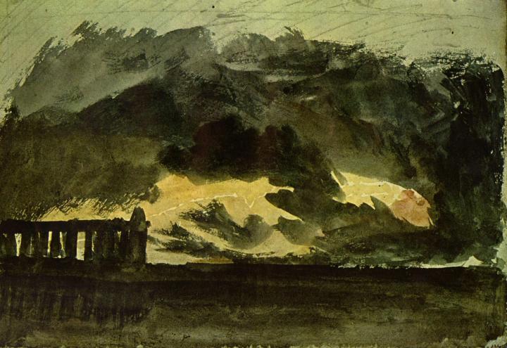 картина Пестум в бурю :: Уильям Тёрнер - William Turner фото