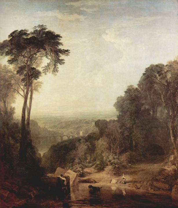 картина Переход ручья вброд :: Уильям Тёрнер - William Turner фото