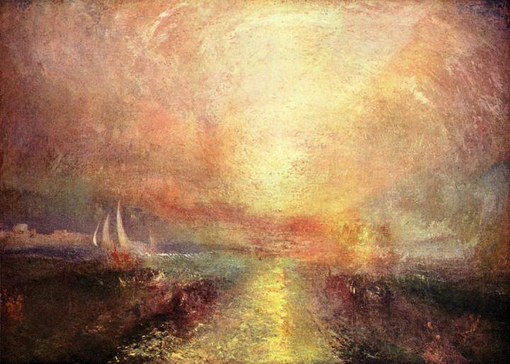 картина < Парусная яхта, подходящая к берегу >:: Уильям Тёрнер ( William Turner ) - William Turner фото
