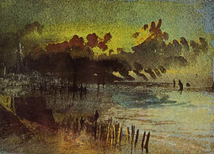 картина Онфлёр :: Уильям Тёрнер - William Turner фото