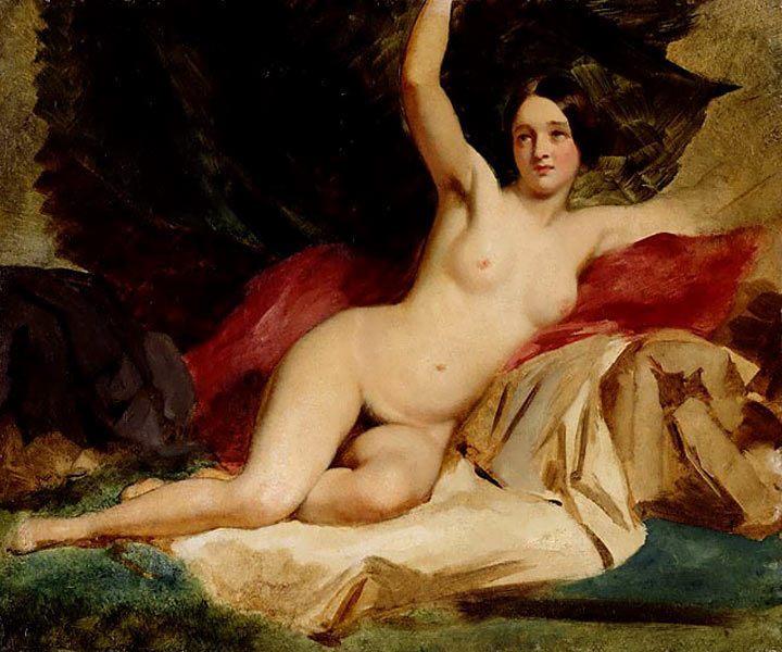 Обнаженная в английском пейзаже ::  Этти Уильям, картина ню, эротика в живописи  - Картины ню, эротика в шедеврах живописи фото