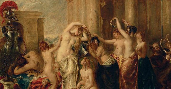 картина Венера и ее свита :: Этти Уильям - Картины ню, эротика в шедеврах живописи фото
