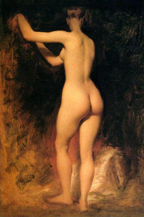 картина <Обнаженная девушка> ::  Этти Уильям - Картины ню, эротика в шедеврах живописи фото