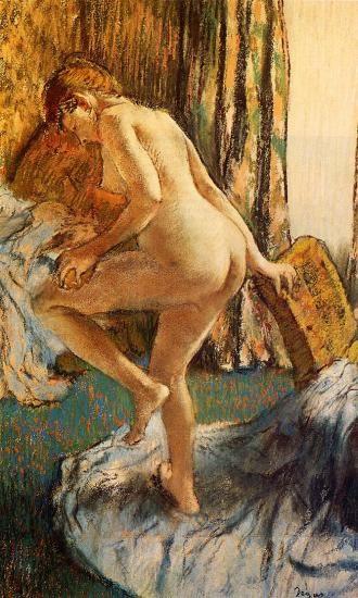 картина После купания :: Эдгар Дега - Картины ню, эротика в шедеврах живописи фото