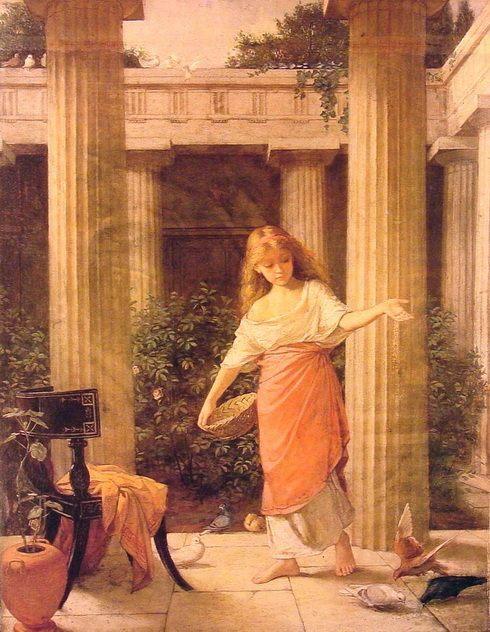 картина В перистиле :: Уотерхаус - John William Waterhouse фото