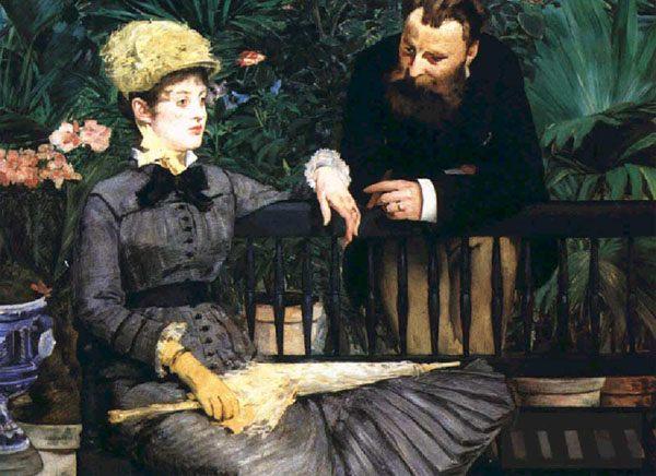 Картина В оранжерее  - Edouard Manet (Эдуард Мане) фото