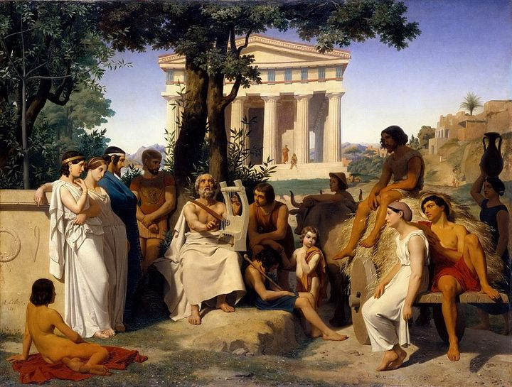 картина Гомер :: Лелуар, Жан-Батист-Огюст - Древний Рим и Греция, Египет фото