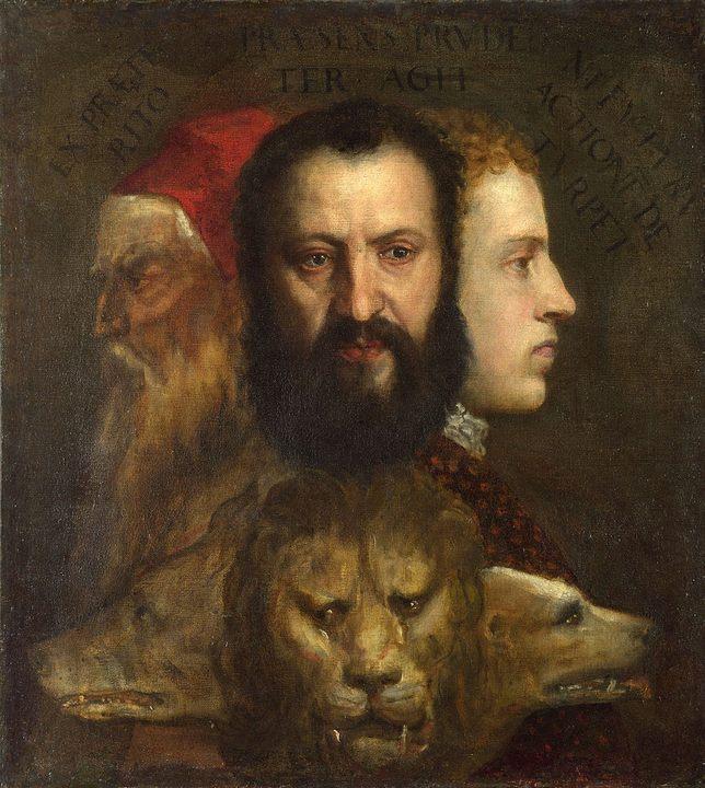 «Аллегория благоразумия» (середина 1560-х) :: Тициан Вачелио, описание картины - Tiziano Veccellio (Тициан) фото