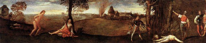 Легенда о Полидоре :: Тициан Вачелио, описание картины - Tiziano Veccellio (Тициан) фото