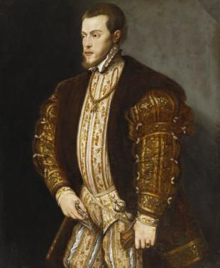 Филип II Испанский :: Тициан Вачелио, описание картины - Tiziano Veccellio фото